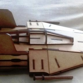 lasercut star wars a-wing fighter