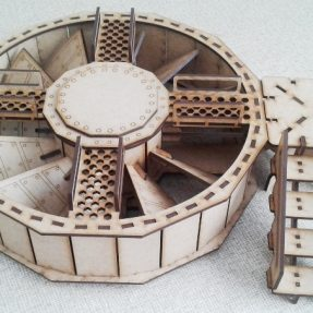Industrial mega-sized turbine fan for tabletop gaming