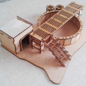 sewerage processing plant for tabletop gaming industrial terrain