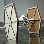 laser cut star wars tie fighter