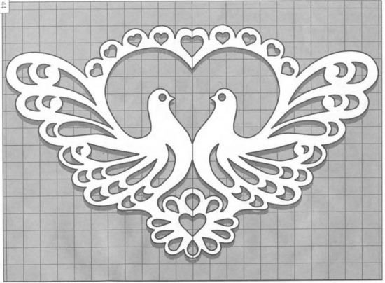 Paper-lace doves overlay